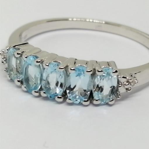 Inel argint -VR018333-topaz
