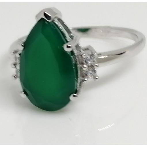 Inel argint VR019995 onix verde