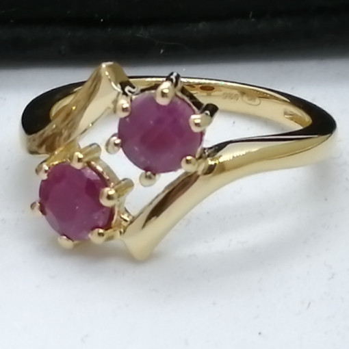 Inel Petra -argint placat si aur -rubin-VR032896
