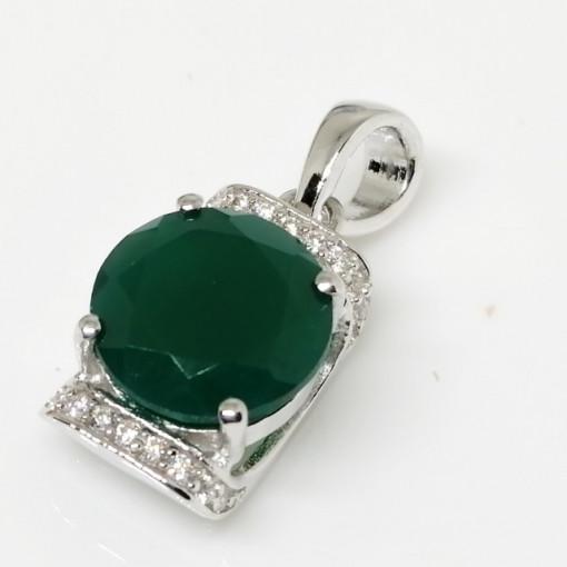 Pandantiv argint onix verde-VP014695