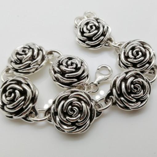 Bratara din argint trandafir BRG100