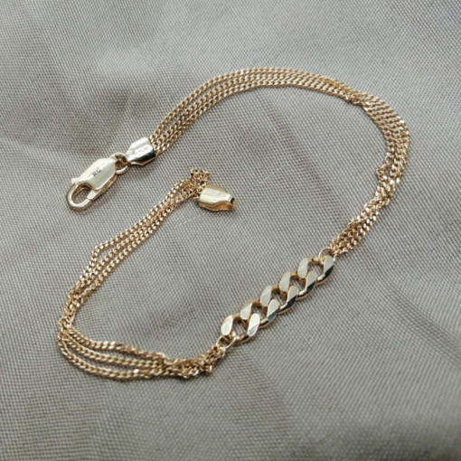 Bratara ROMA-argint placat cu aur galben -B-SETS0074AGGRU