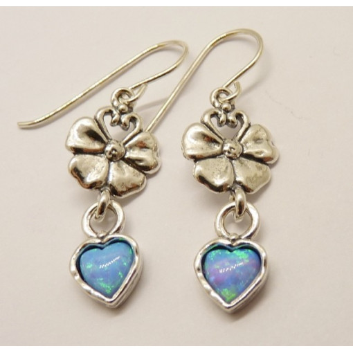 Cercei argint opal-E2277
