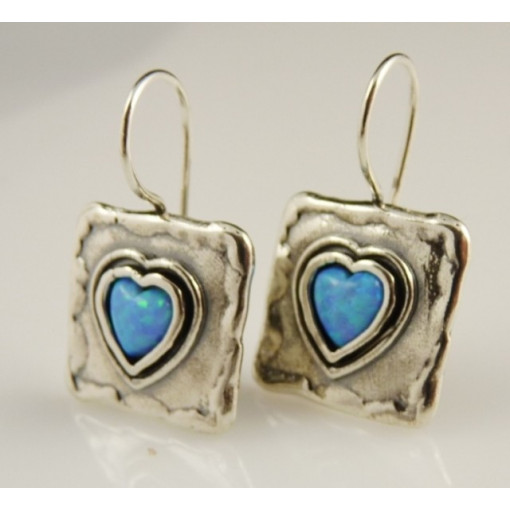 Cercei argint opal E3374