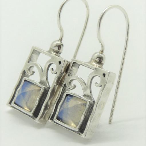 Cercei argint opalit E3157