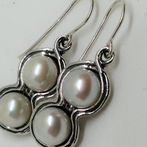 Cercei din argint cu perla E1997