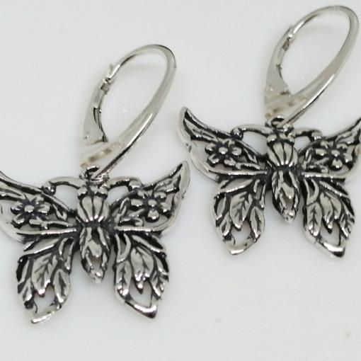 Cercei fluture din argint E1356