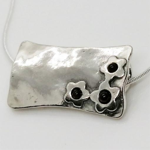 Colier argint granat- N1842