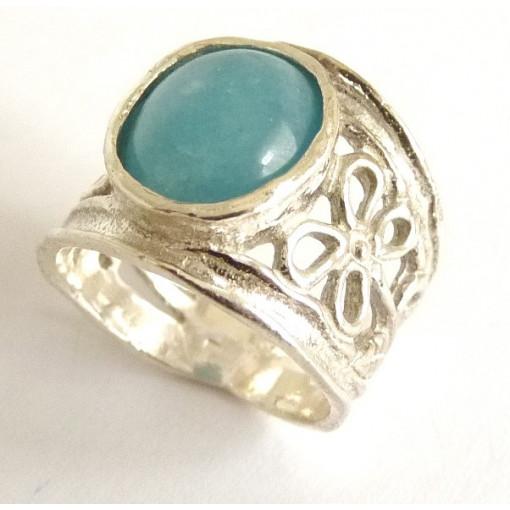 Inel argint cu angelit-R2337