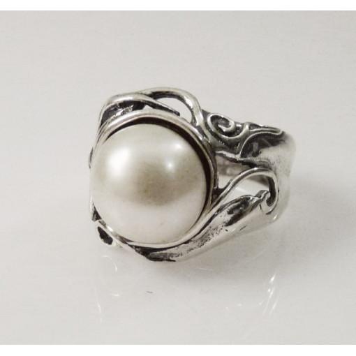 Inel argint perla R1182