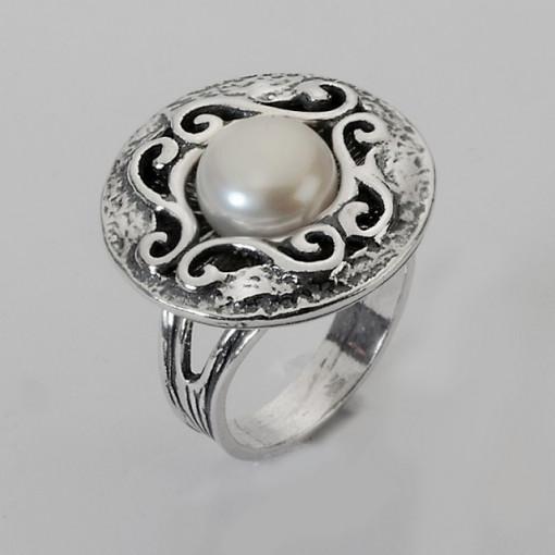 Inel argint perla R1332