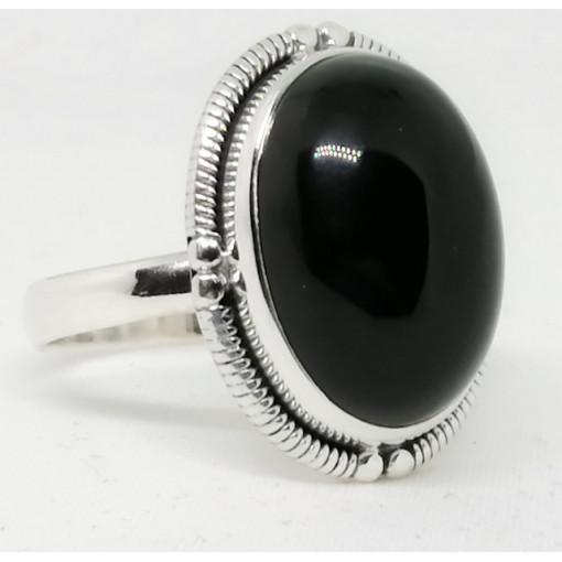 Inel argint - R35 onix negru