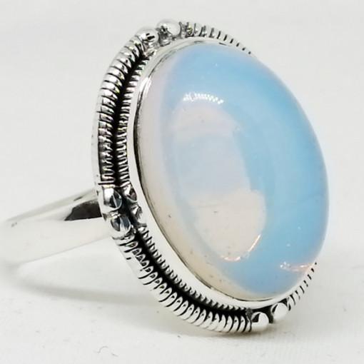 Inel argint - R35- opal alb