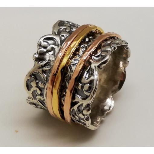 Inel argint si verigi goldfilled- R2743
