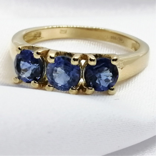 Inel Madalina -argint placat si aur - Kyanit - VR014961