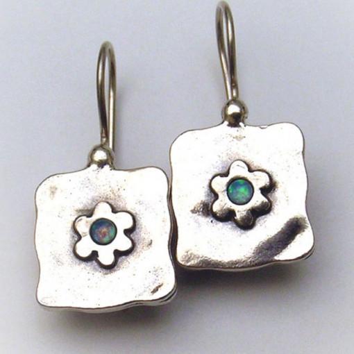 Cercei argint opal E1546