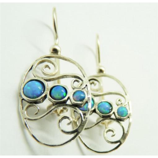 Cercei argint opal E3626