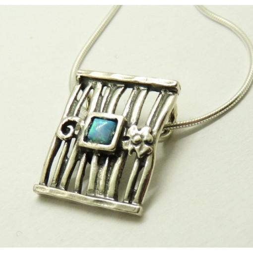 Colier din argint cu opal- N2632