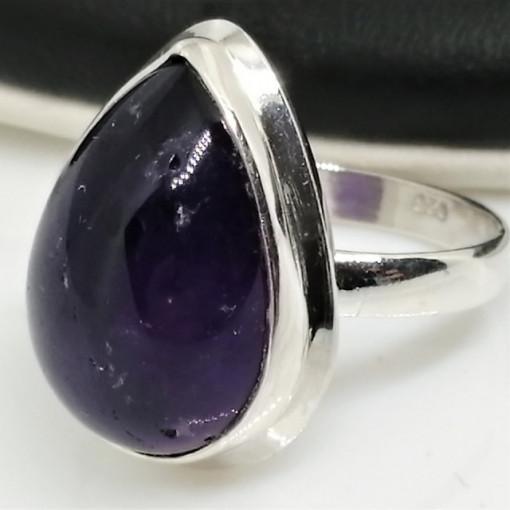 Inel argint cu ametist - R181-1