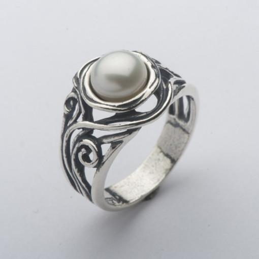 Inel argint cu perla R1181