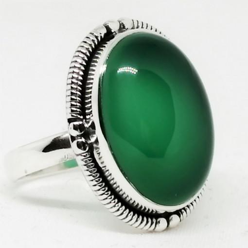 Inel argint - R35 onix verde