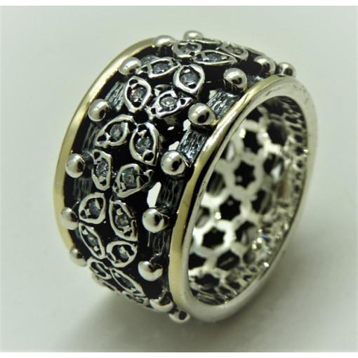 Inel argint si aur 14k -RG10-146