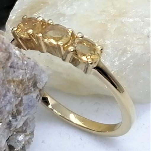 Inel Cecilia-argint placat si aur -Citrin VR014820