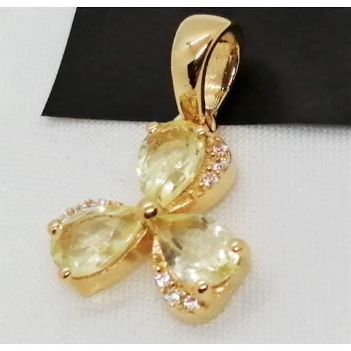 Pandantiv Iasmina-argint placat cu aur galben - VP013772 lemon topaz