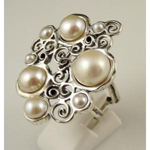 Inel argint perla R4170-1