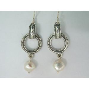 Cercei argint perla E705