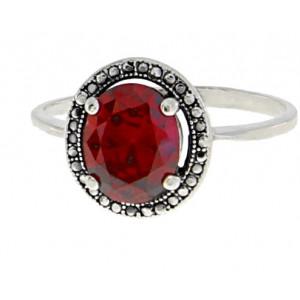 Inel argint delicat red quartz -R2421