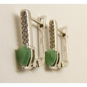 Cercei argint cuart verde -VE015724