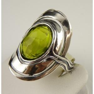 Inel argint peridot R1102