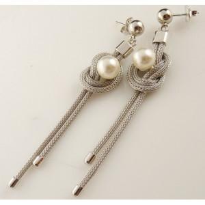 Cercei argint cu perla -ORAC2644RHFWP