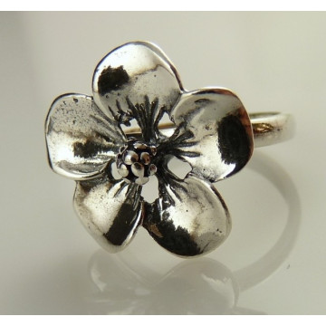 Inel argint floare-R1881