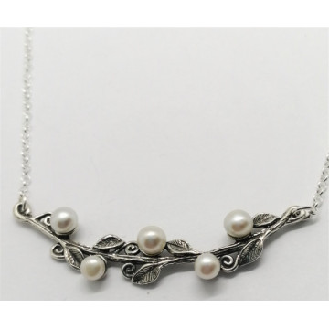 Colier argint perle-N9381