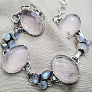 Bratara argint BR68 cuart roz
