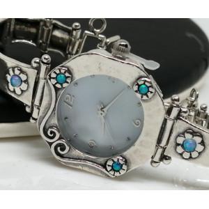 Ceas argint opal-W1536