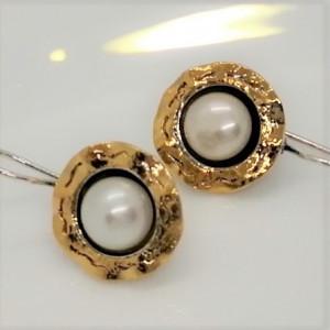Cercei argint cu perla -E3746