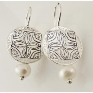 Cercei argint cu perla E952