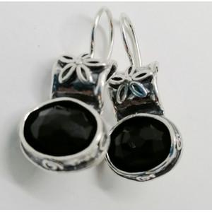 Cercei argint onix E456