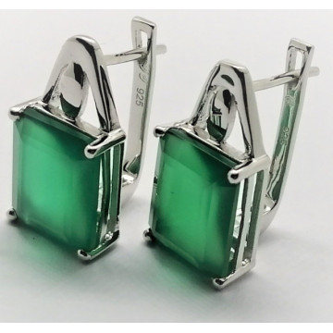Cercei argint onix verde -VE012691