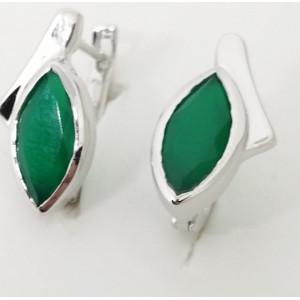Cercei argint onix verde -VE014040