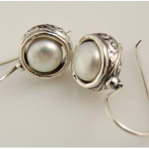 Cercei argint perla E3245