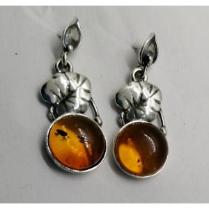 Cercei argint si chihlimbar E1352