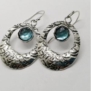 Cercei argint topaz- E5767