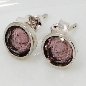 Cercei cu surub -E11821-6 cristal roz