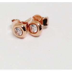 Cercei delicati argint placat cu aur roz- ORSS3253PLA6R
