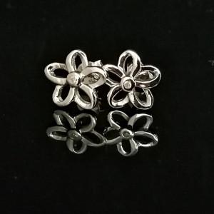 Cercei din argint cu diamant I3-taietura dubla VE031919