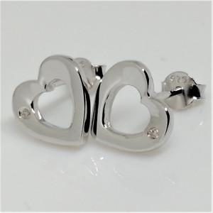 Cercei din argint cu diamant I3-taietura dubla VE031938